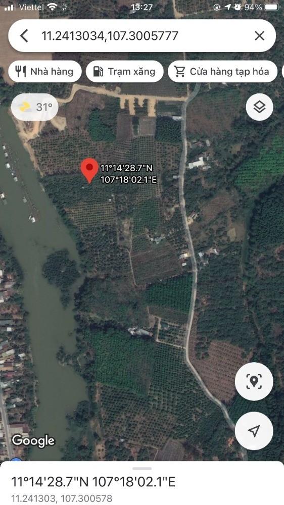 Bán đất vườn bưởi Định Quán Đồng Nai chính chủ, giáp sông Đồng Nai Quốc Lộ 20