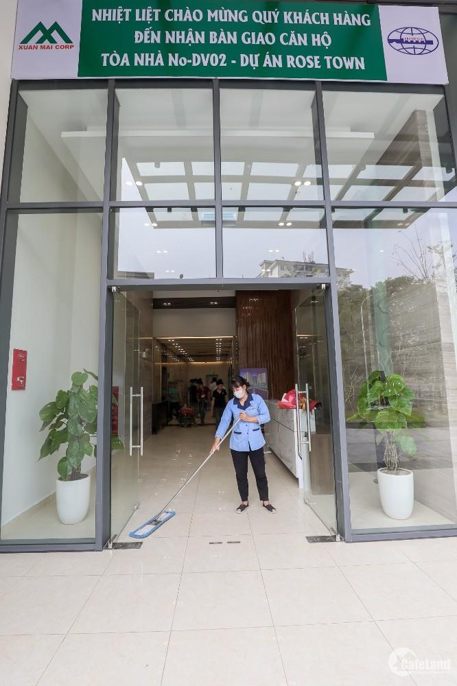 Bán căn hộ 3PN tại Dự án Rose Town, Hoàng Mai, Hà Nội diện tích 92.19m2