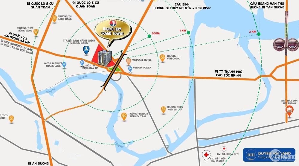 CHỈ TỪ 450tr ĐÃ CÓ THỂ SỞ HỮU CĂN HỘ CAO CẤP HOÀNG HUY GRAND TOWER LH 0936240143