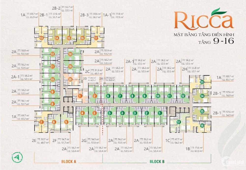 Giỏ hàng những căn đẹp giá tốt dự án Ricca Q9