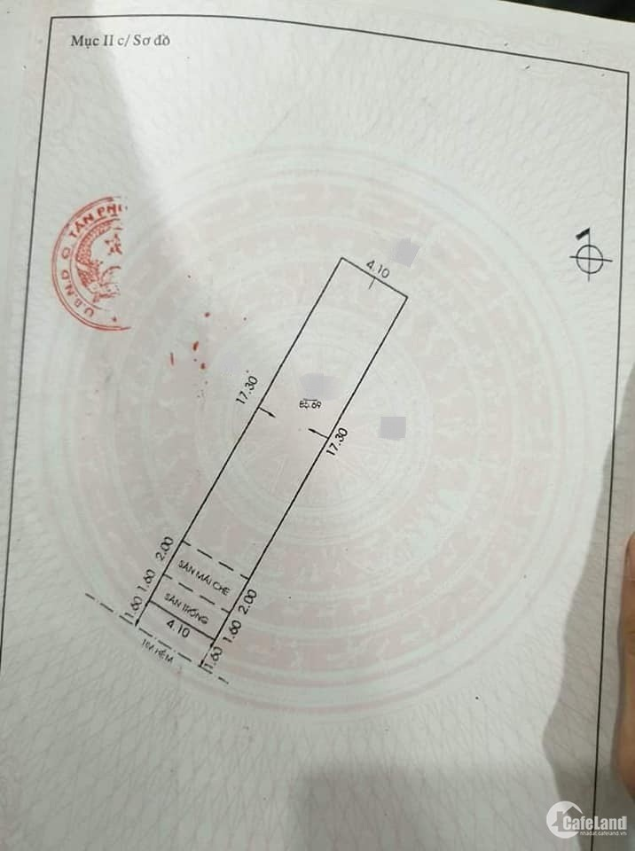 Bán gấp nhà hxhlt Phú Thọ Hòa, Tân Phú, 4,1x21m, giá chỉ 5,8 tỷ(TL)