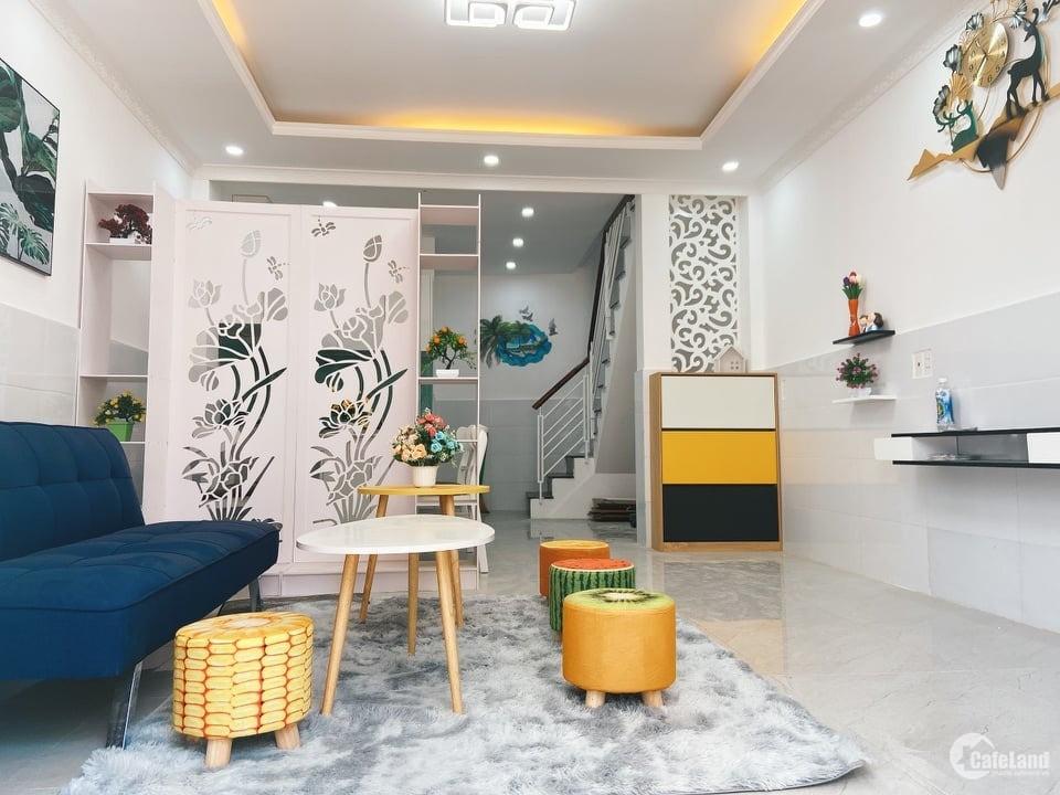 Bán nhà 2 tầng cực đẹp P.17,Gò Vấp:HXH,full nội thất,thiết kế 4.0,chỉ 3.95 tỷ