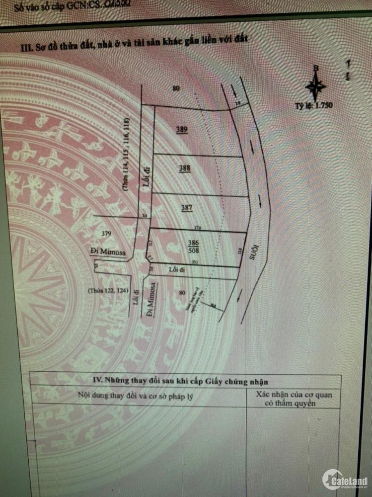 Đất  508m2 sổ hồng Thành phố Đà Lạt , Phường 10