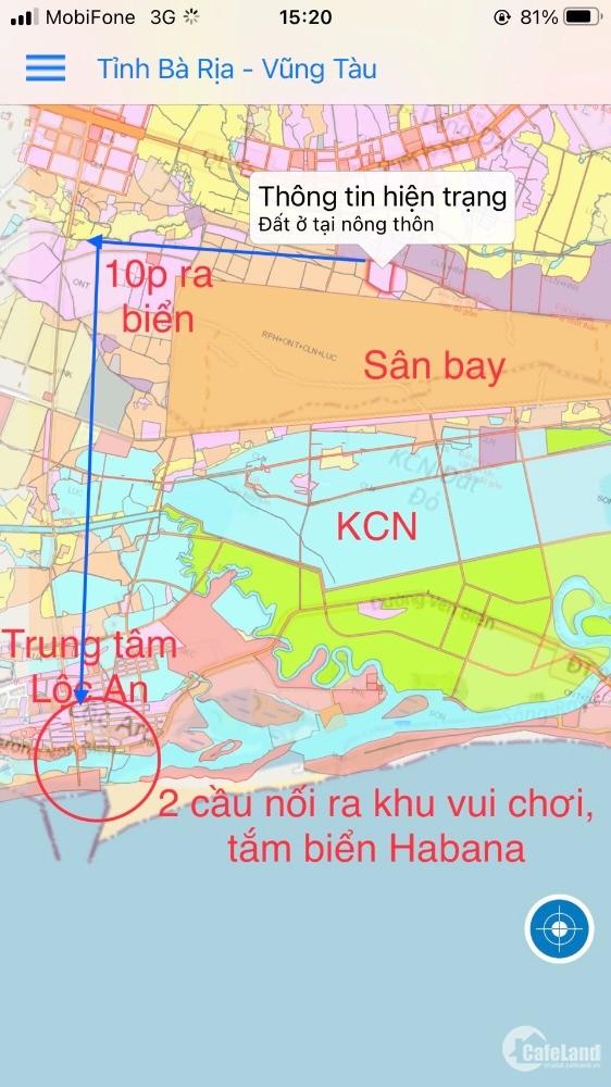 Triển khai khu đất sân bay Lộc An thổ cư sẵn, sổ hồng riêng từng lô