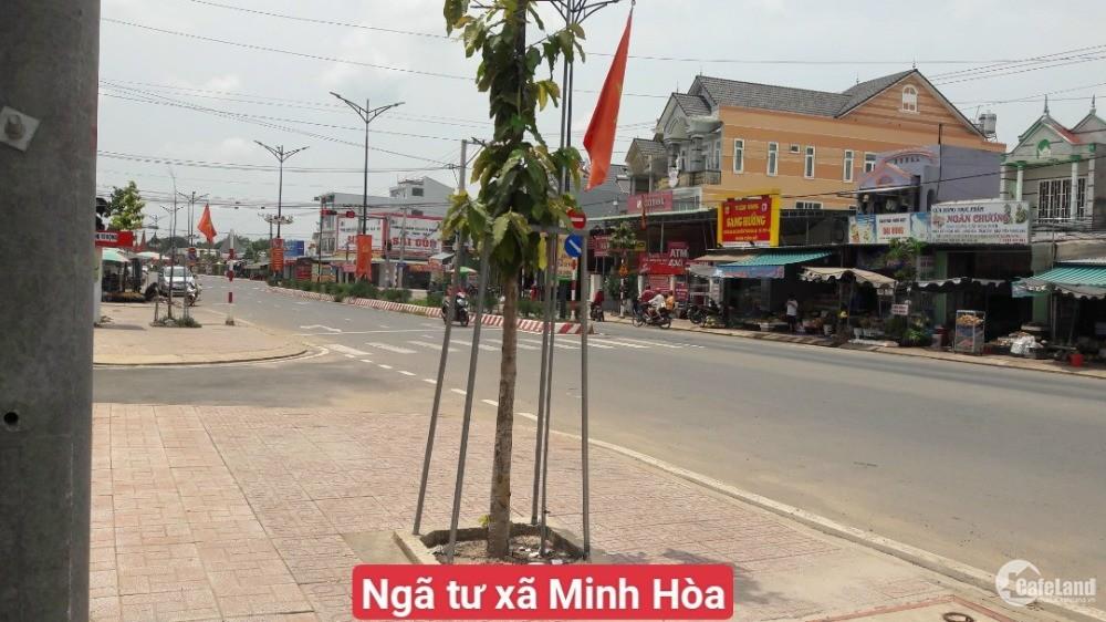 Cần bán gấp đất 1000m2 đường sỏi đỏ 7M điện 3pha dân cư đông gần chợ Minh Hòa