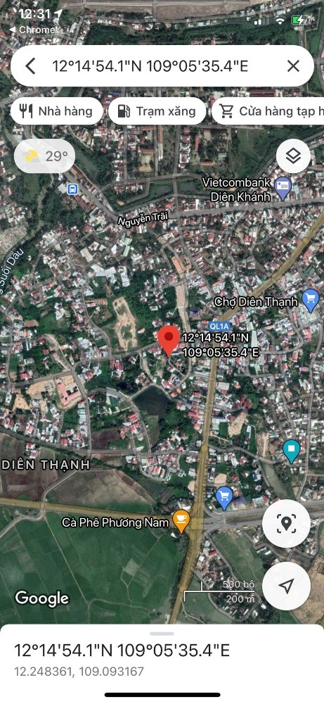 Bán lô đất giá rẽ xã Diên Thanh Huyện Diên Khánh chỉ 550 triệu/100m2