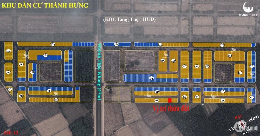 bán đất nền nhơn trạch dự án thành hưng 300m2 chỉ 10tr/m2 LH: 0907016378
