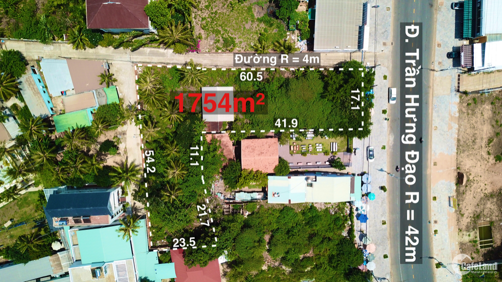Bán mảnh đất 1754m mặt tiền đường Trần Hưng Đạo Thành Phố Phú Quốc