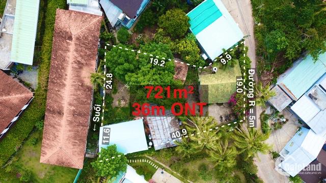 Bán mảnh đất 721m xây bungalow phố Tây Cửa Lấp Trần Hưng Đạo TP Phú Quốc