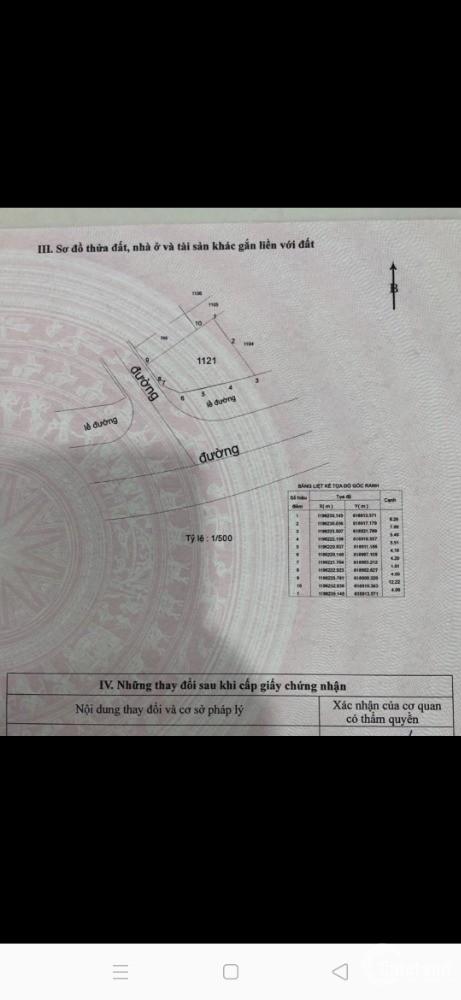 Bán đất nền quận 9 lô góc 2 mặt tiền phường trường thạnh 175m2 full thổ cư