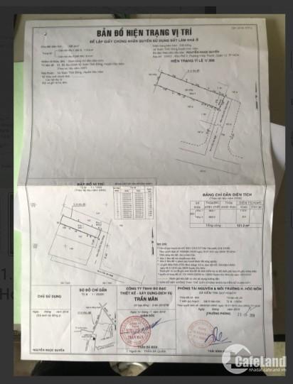 Vỡ nợ cần bán gấp lô đất ở mặt tiền đường Trần Văn Mười, Hóc Môn 121.2m², SHR