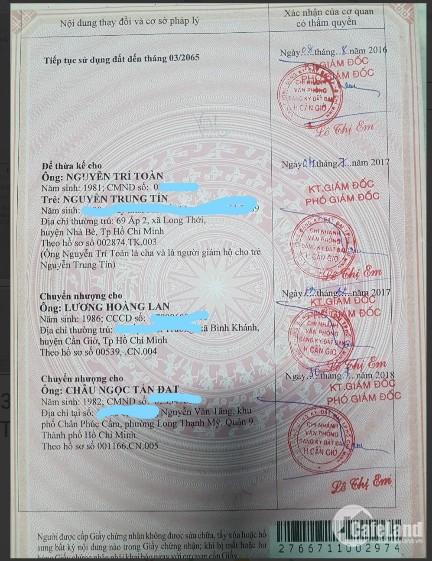 Vợ nợ gia đình tôi cần bán nhanh 306m² tại đường Rừng Sác, SHR, Cần Giờ giá 2.6