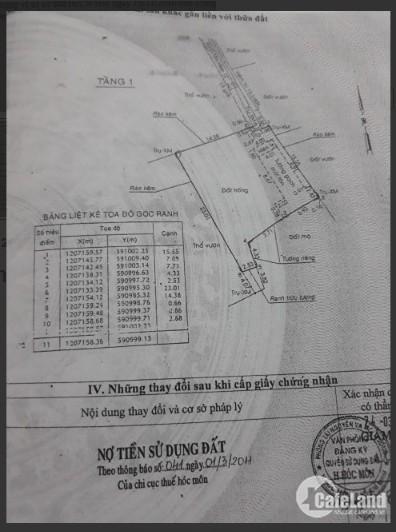 Trả nợ, bán gấp lô đất 326.8m² đường Tân Hiệp 13, SHR, giá 4.45 tỷ.