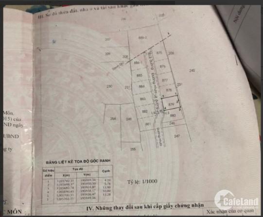 Còn miếng đất má cho, bán nhanh trả nợ (10m x 13,5m) ngay Đông Thạnh, Hóc Môn