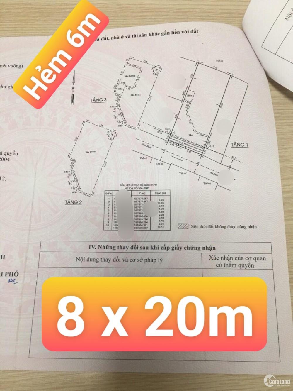 Nhà HXH 3 tầng kiểu Pháp - 8 x 20m - Ngân hàng dí giảm sâu lần 3