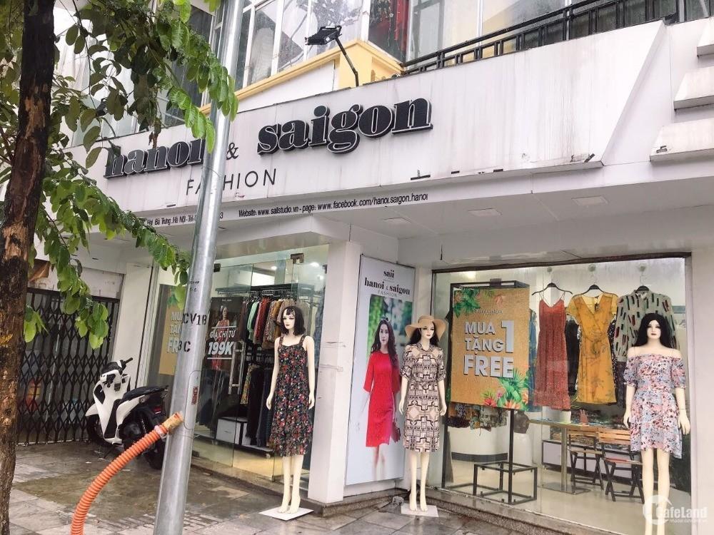 Cho .thuê hoặc bán nhà góc 2 mặt phố Đại Cồ Việt, Lê Đại Hành MT 9.5m cực đẹp