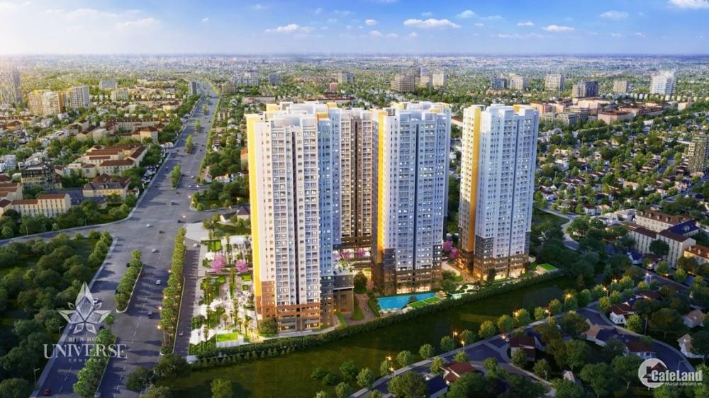 Căn hộ cao câp Biên Hoà 70m2 chỉ từ 345 triệu, góp 1% tháng, CK ưu đãi lên 8%