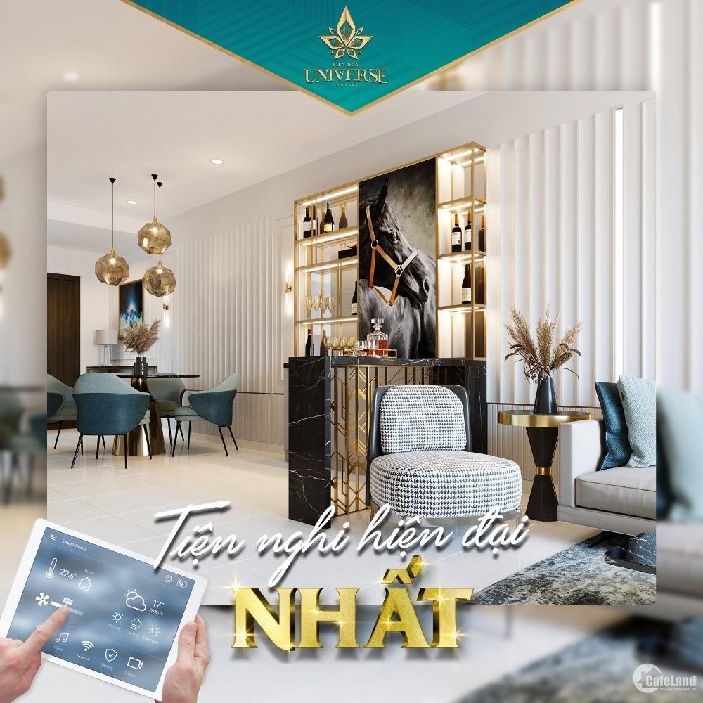 Căn hộ Smart home Biên Hoà, gần KCN Amata 73m2 chỉ từ 360 triệu, Sh lâu dài