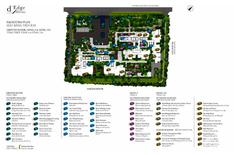 Giỏ hàng 39 căn D'edge Thảo Điền, 63m2 - 189m2, Penthouse, Duplex, Giá từ 5.3 tỷ