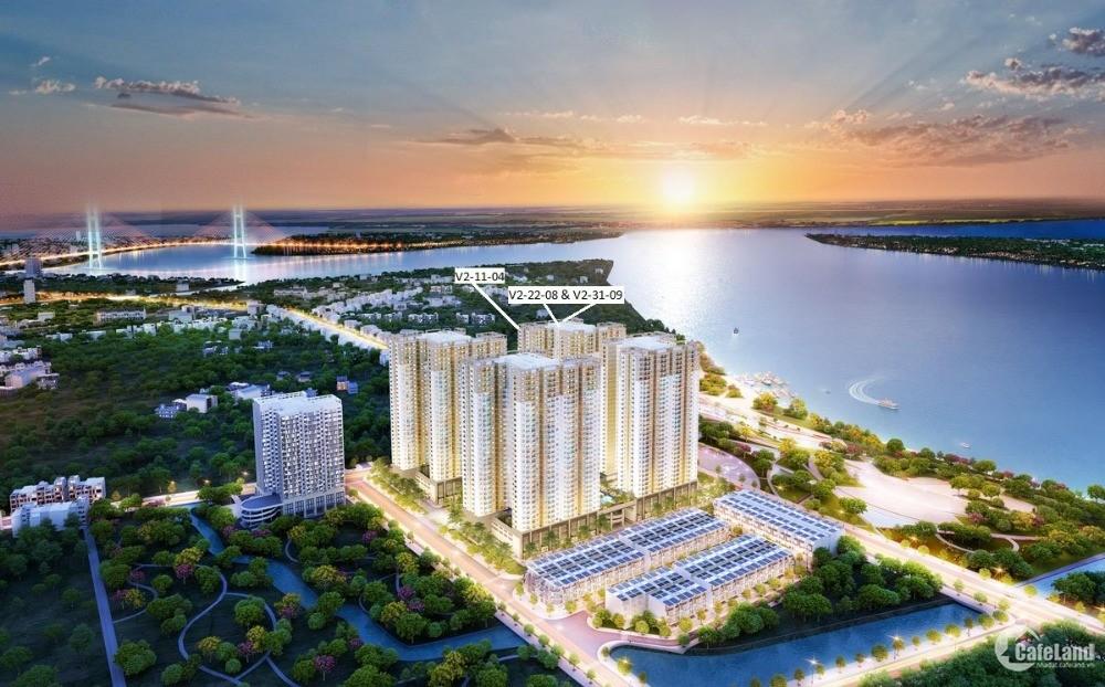Bán căn hộ ven sông đường Đào Trí Q7 Sài Gòn Riverside, 2PN giá 1,9 tỷ