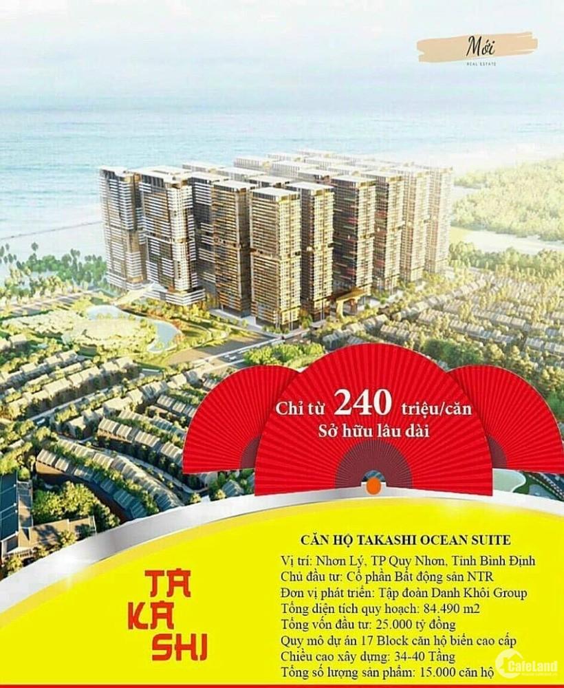 Booking Căn hộ cao cấp view biển Takashi Ocean Suite chỉ từ 20 triệu. 0934942064