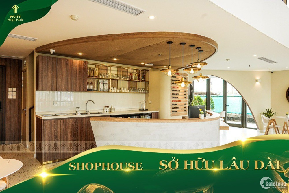 Shophouse vừa ở vừa kinh doanh - 10.000 dân nội khu - SHR
