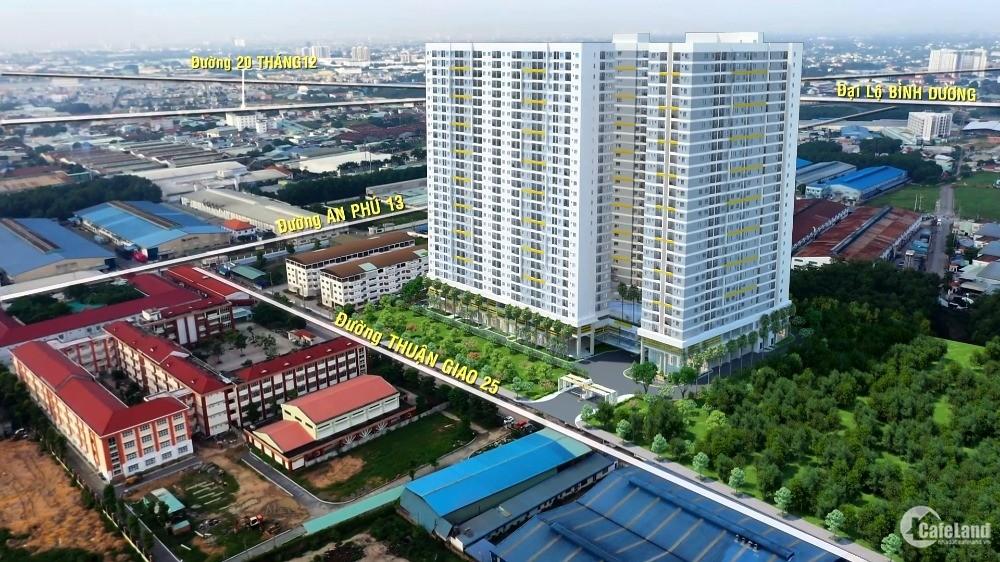 Căn hộ hoàn thiện cơ bản ngay Aeon Mall Bình Dương, ngân hàng cho vay 70%