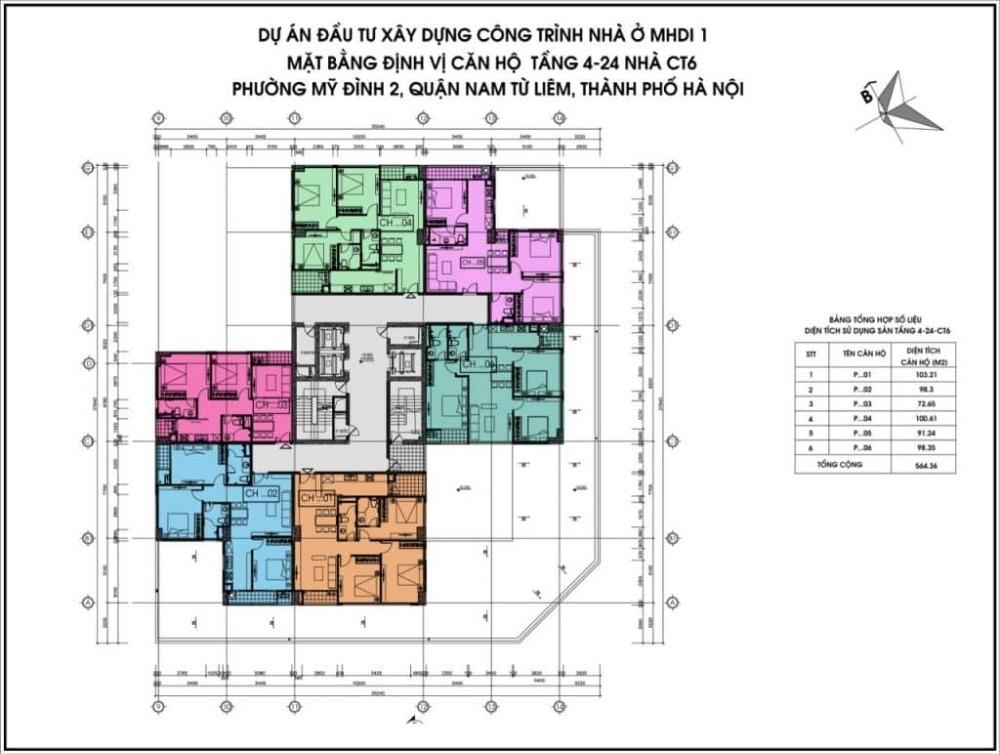 Chuyển nhượng căn hộ 100.61m2 3 PN tầng 21 toà CT6 MHDI Lê Đức Thọ.