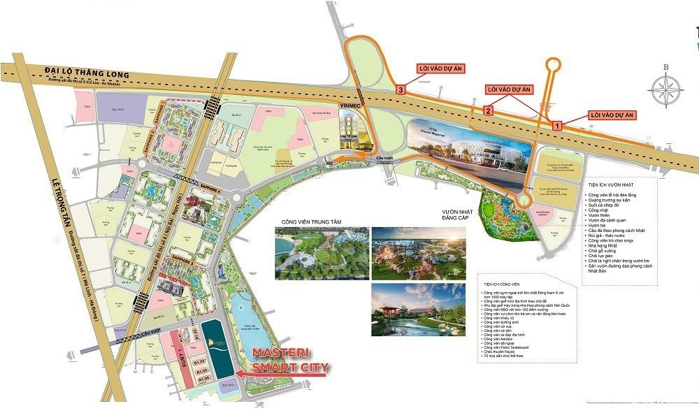 Siêu dự án căn hộ hạng sang Masteri West Heights ,  vị trí đắc địa tâm điểm phí