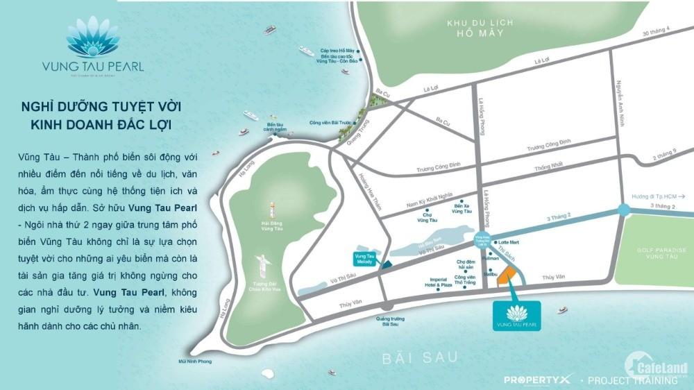 Căn hộ du lịch biển Vũng Tàu, giá 1,9 tỷ - MT đường Thi Sách cách biển chỉ 200m
