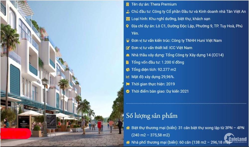 Thera Premium Shophouse 7x23, Biệt Thự Thương Mại 12x20 Sinh lợi Bền Vững