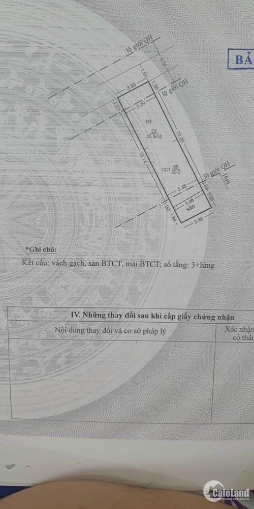 (A004) Bán nhà chính chủ 2 MT Đặng Chất p2 Q8.DT; 3.8x14.5m .Giá; 12.5 tỷ (TL)