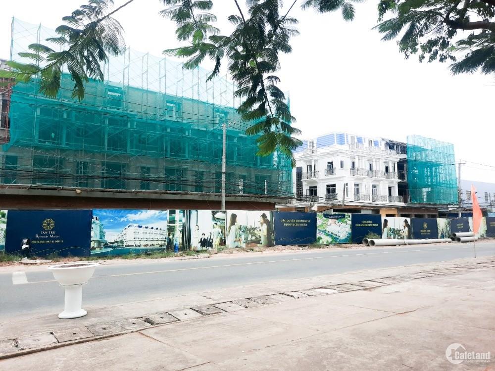 Bán nhà mặt tiền chợ Tân Trụ, Đường Nguyễn Trung Trực, Tân Trụ, 5x25, SHR