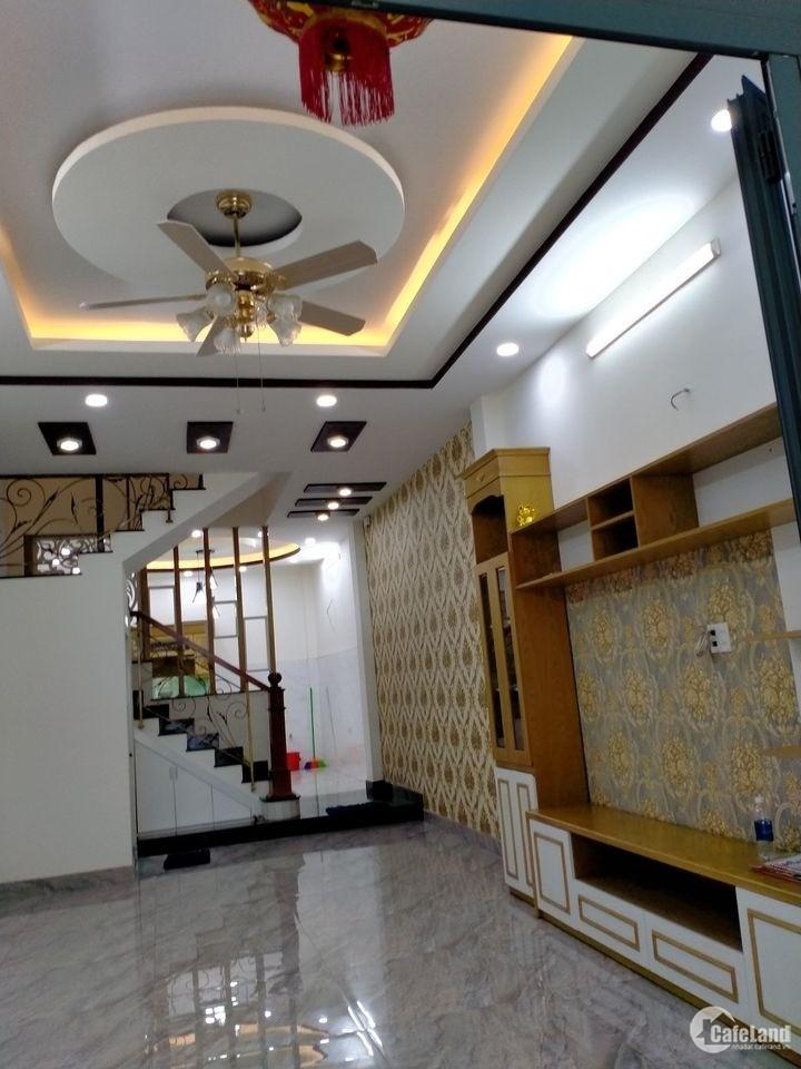Nhà Nguyễn Oanh 70m2(5x14), 4 tầng full nội thất, Ô tô chạy vèo vèo ,  6.5 tỷ TL