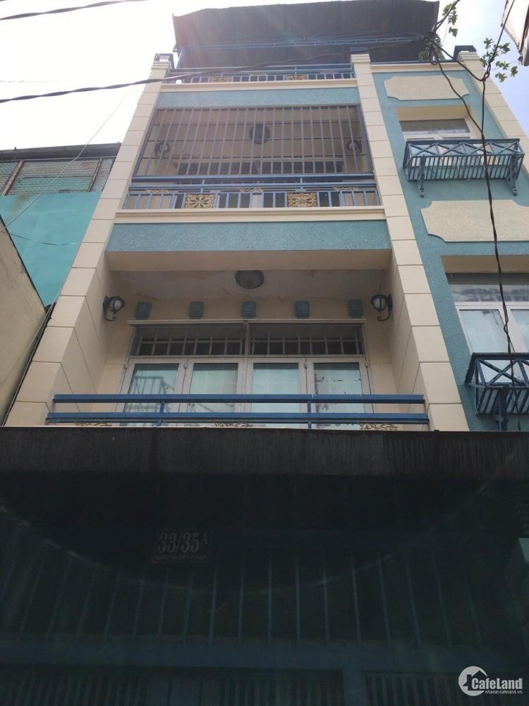 Bán nhà 1 trệt, 3 lầu hẻm xa hơi