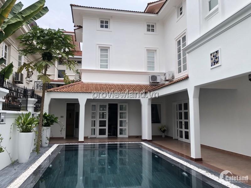 Cho thuê biệt thự khu Kim Sơn Thảo Điền, 25x20m đất, 2 tầng, 4PN