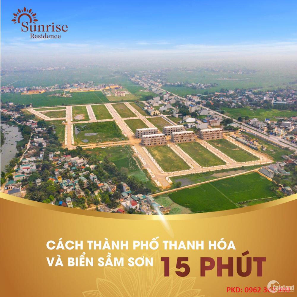 Bán nhanh lô Biệt Thự ngoại giao dự án Sunrise Residence Quảng Phú,TP. Thanh Hóa
