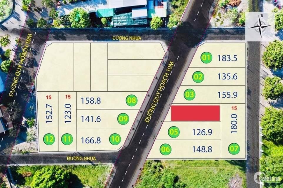 Lô góc duy nhất giá đầu tư, DT 130m2 tại KDC Câm Lâm    xem video bên dưới