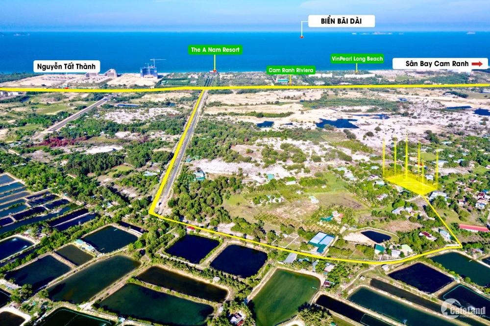 Chỉ duy nhất lô góc 3 mặt tiền cạnh biển bãi dài Cam Lâm hướng Đông giá từ CDT