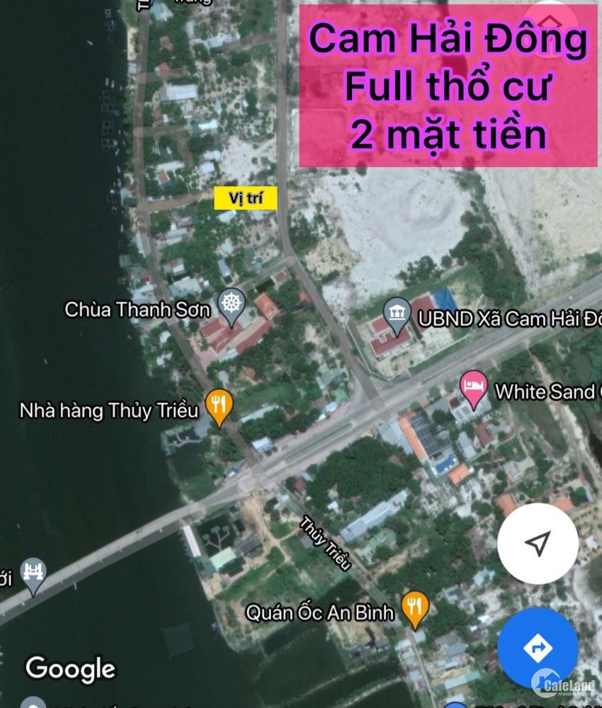 Bán gấp Lô Đất 2 mặt tiền Cam Hải Đông Giá Rẻ