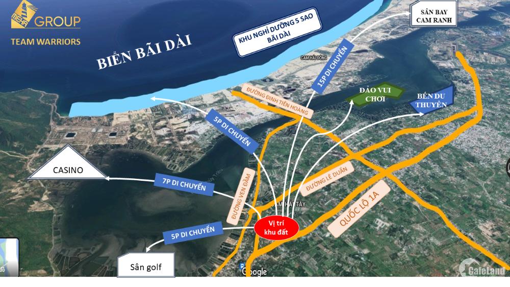 Đất nền Đầm thủy triều, QL1A đi vào 100m, sổ đỏ full 100% thổ cư, giá chỉ 7tr/m2