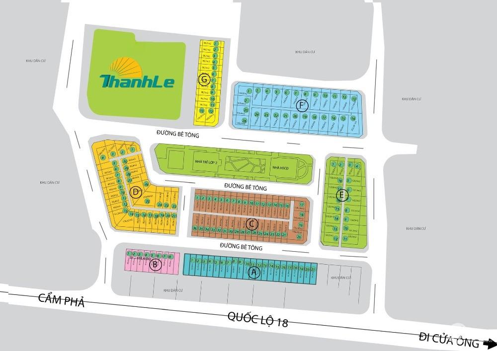 Bán đất dự án Cao Sơn 2 giá chỉ hơn 900tr/ô - Rẻ nhất thị trường đất nền tại Cẩm