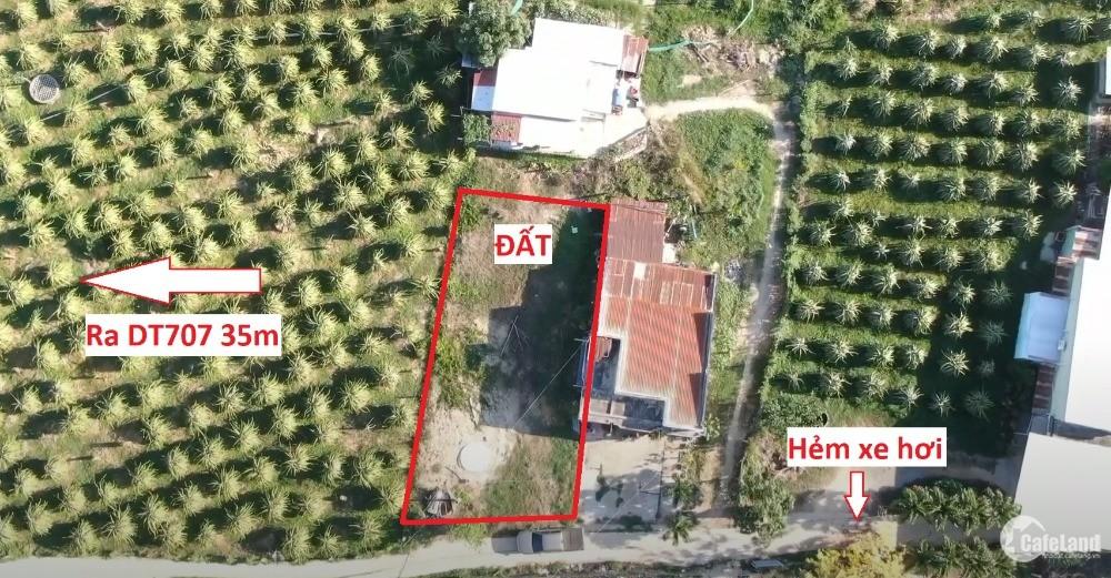 Đất thổ cư gần ga Bình Thuận, DT707 vào hẻm chỉ 35m, cách Ngã ba Chùa 120m.