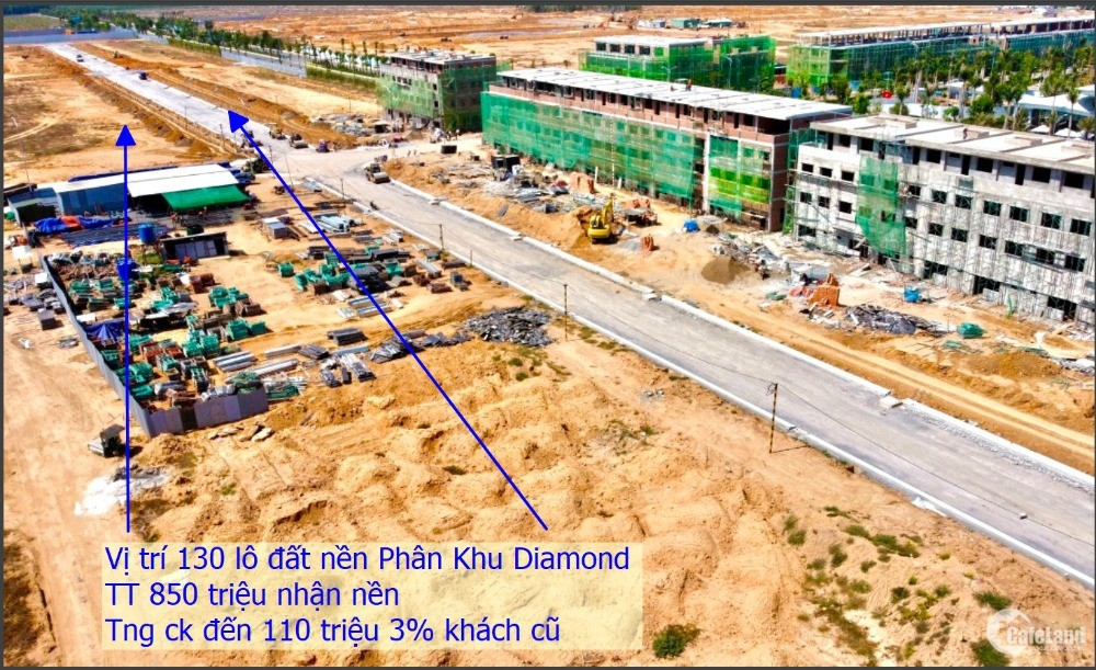 đất nền cần bán Giảm đến 110 triệu DT 5x20 mặt tiền 16m TT 760 triệu nhận nền