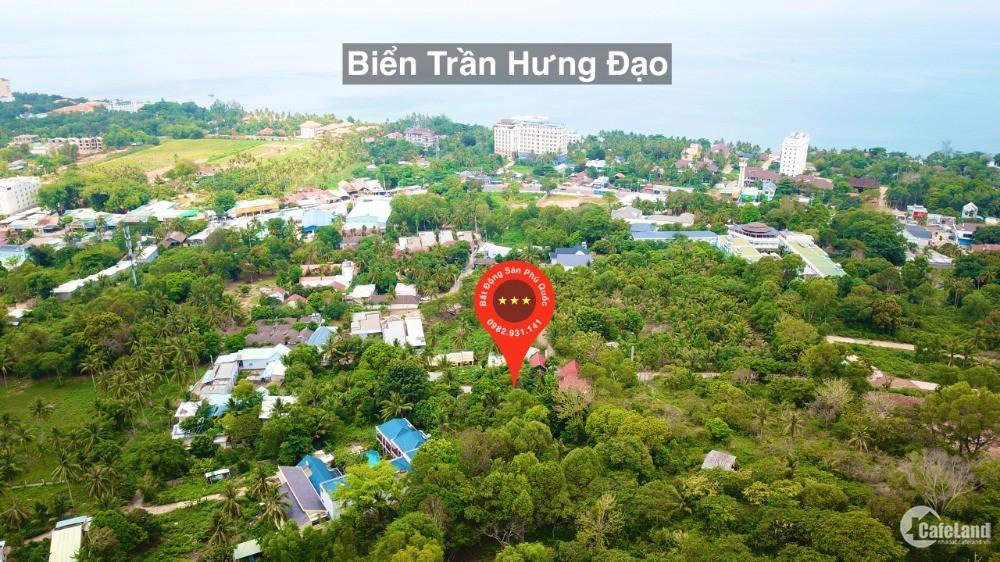 Bán mảnh đất 2020m có 300m thổ cư view biển Trần Hưng Đạo TP Phú Quốc