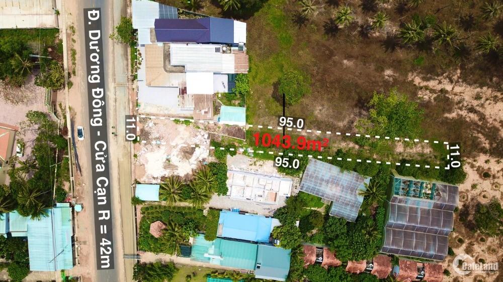 Bán mảnh đất xây cao tầng view biển mặt tiền đường Dương Đông Cửa Cạn TP Phú Quố