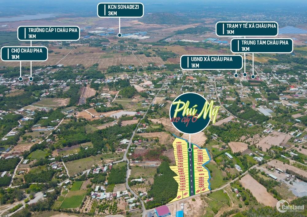 Đất Phú Mỹ ngay chân núi Dinh giá cực tốt chỉ 1tr9/m2. Sổ riêng  từng lô
