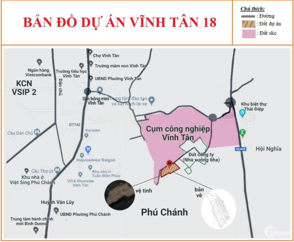 Đất Vĩnh Tân giá đầu tư chỉ 3tr/m dt đất 350m2 trên đường Trường lái