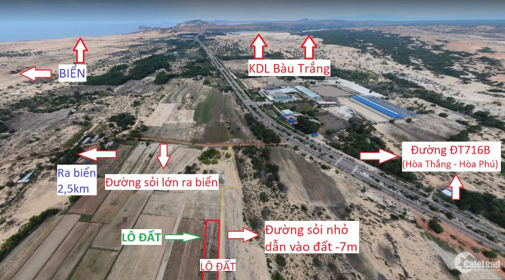 Đất quy hoạch TMDV, 2,500m2 giá 3 tỷ, liền kề đường Hòa Thắng Hòa Phú, 2km ra tớ