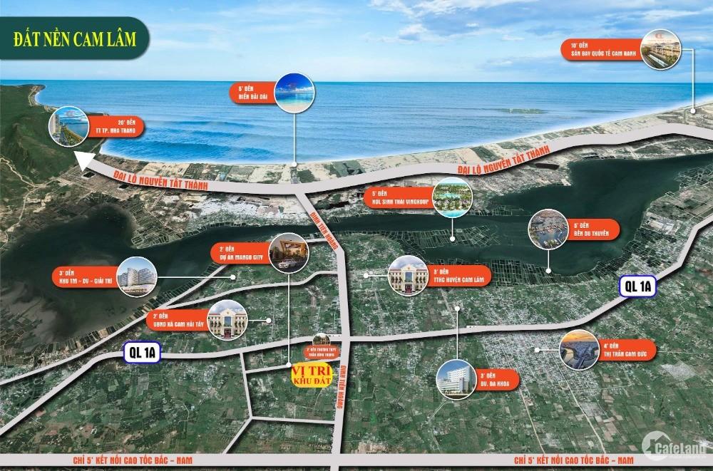 dự án đất nền cam lâm new town sổ đỏ vĩnh viễn gần biển bãi dài cam lâm -khánhòa